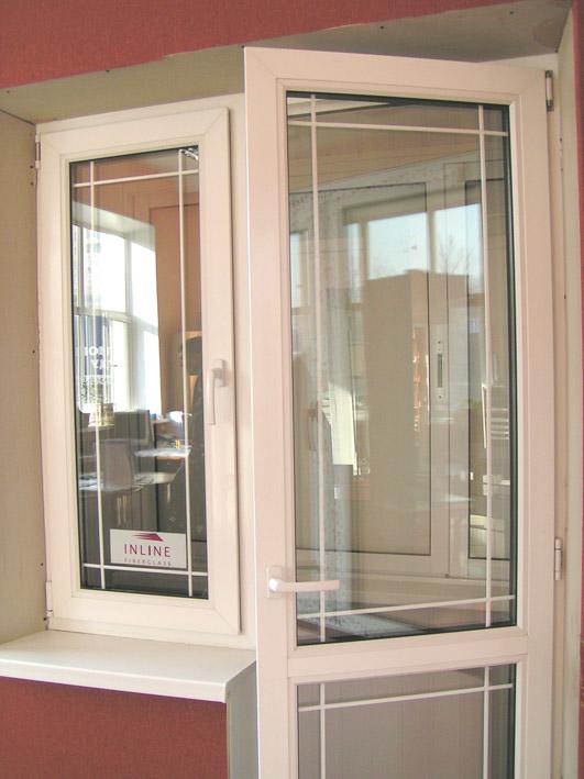 090 - балконный блок из окна и двери пвх. - академия окон.